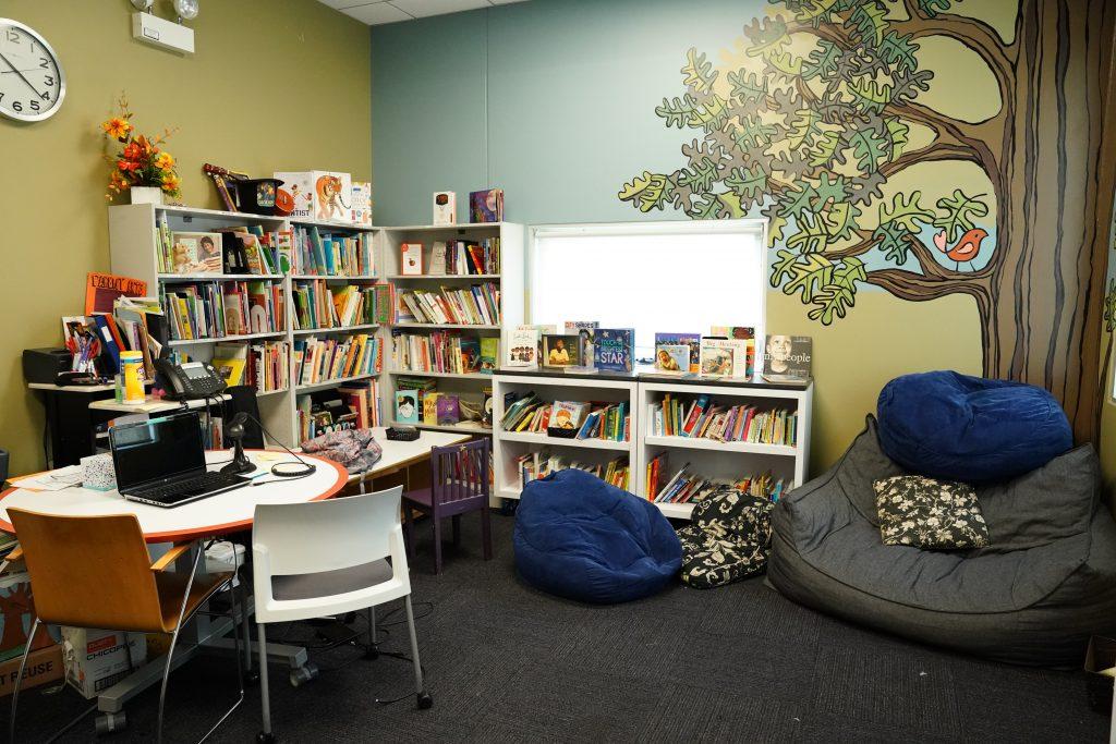 photo of educare library corner